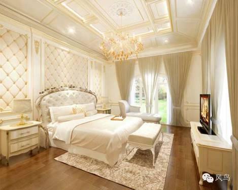 高贵体现在家居生活中的诸多细节中,床头墙板的软包设计拉伸了房间图片