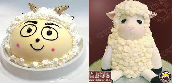 甜蜜小羊蛋糕diy,亲自动手做2015年的第一块蛋糕,让新的一年都能甜