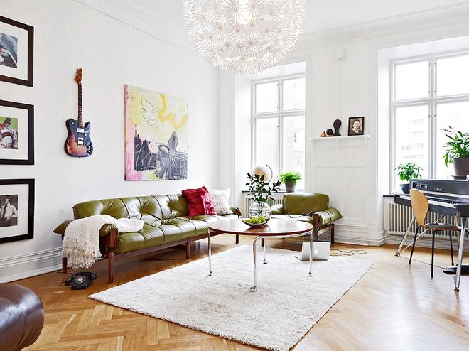 经典小户型 62平纯净清新一居室家装案例效果图高清图片