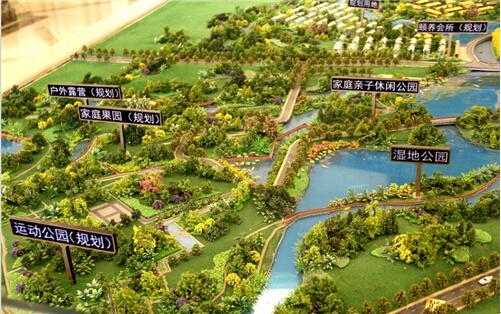 两河森林公园之中规划有生态湿地公园