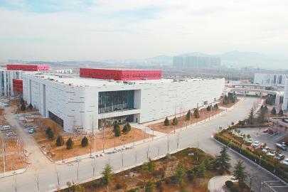 文博中心片区成了章丘新政务区一道风景线