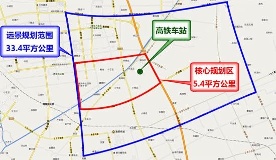 高铁新城规划图 高清图片
