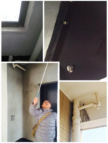 检查厨卫、阳台排水管