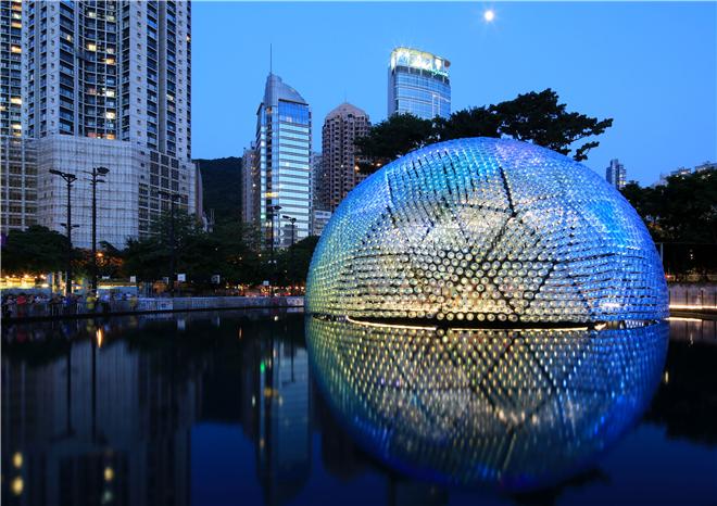 DFA铜奖作品:香港中秋节晚会 水樽灯
