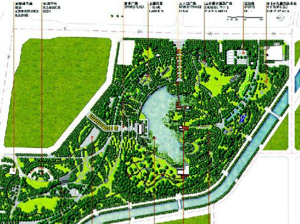 和平公园设计平面图