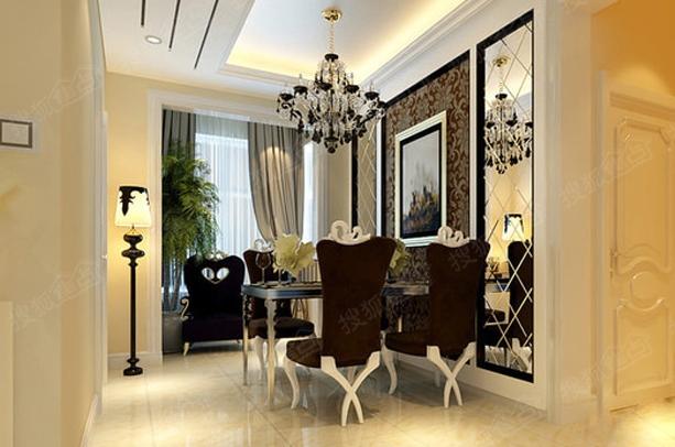 超凡脱俗的 90平两居室欧式装修风格图片