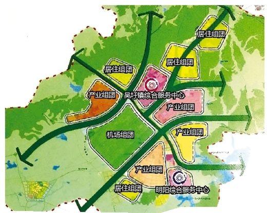 吴圩空港经济区规划图