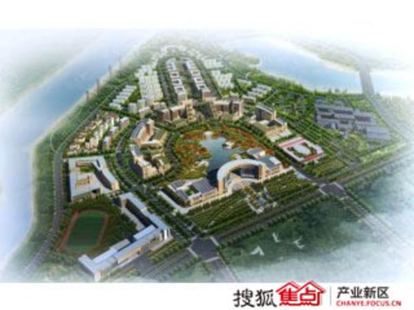 中新生态城文化广场规划图 高清图片
