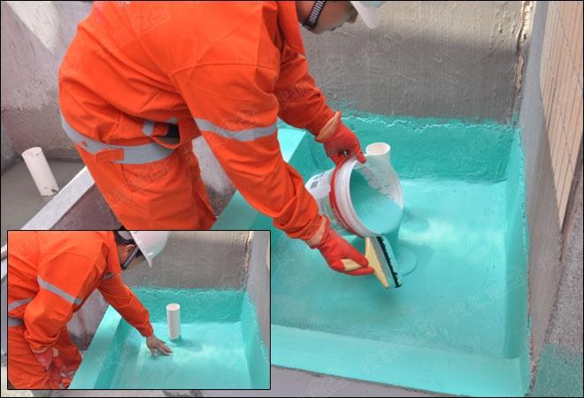 德高K11彩色柔韧性Ⅲ型防水浆料施工过程-轻松解决防水难题 德高K11图片