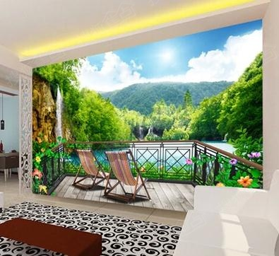 a:3d无缝欧式风景电视客厅背景墙