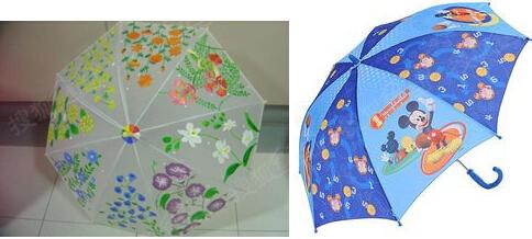绘画可爱的小伞