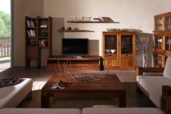 黑胡桃木打造的客厅(图为百强黑森林-客厅系列)
