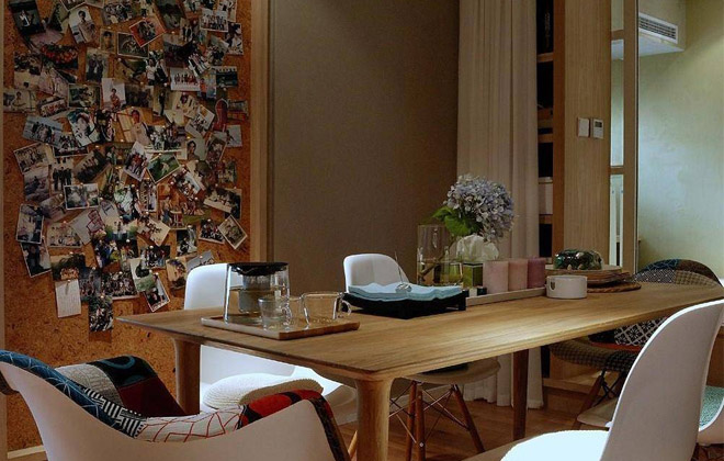 软木照片墙  实木餐桌更体现北欧风格的原味!
