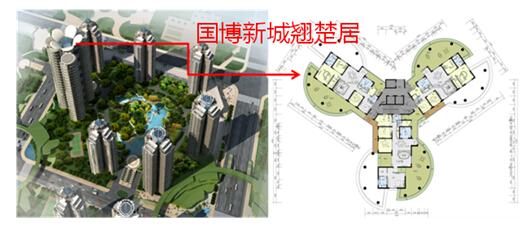 蝶式设计如何集塔式与板式建筑的优点于一体?图片