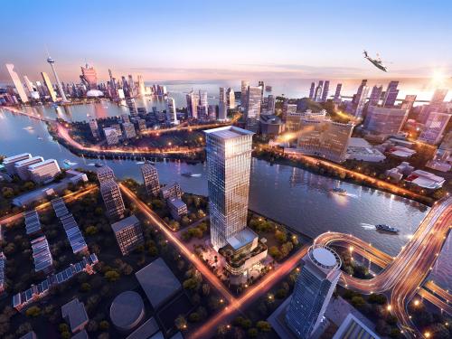 横琴岛上自由行驶;港珠澳大桥珠海口岸与澳门口岸同图片