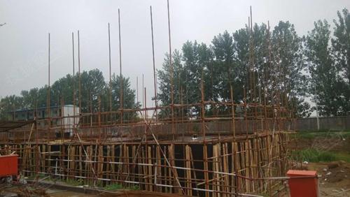 14#楼负一层顶板混凝土浇筑