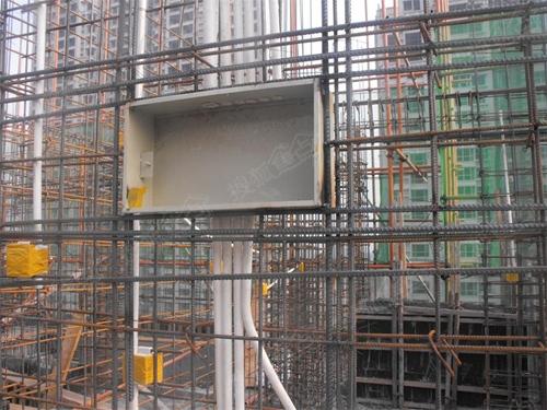 新建楼墙钢筋绑扎