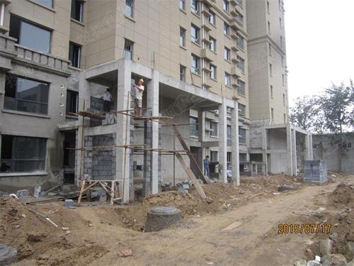 6#楼门厅二次砌筑