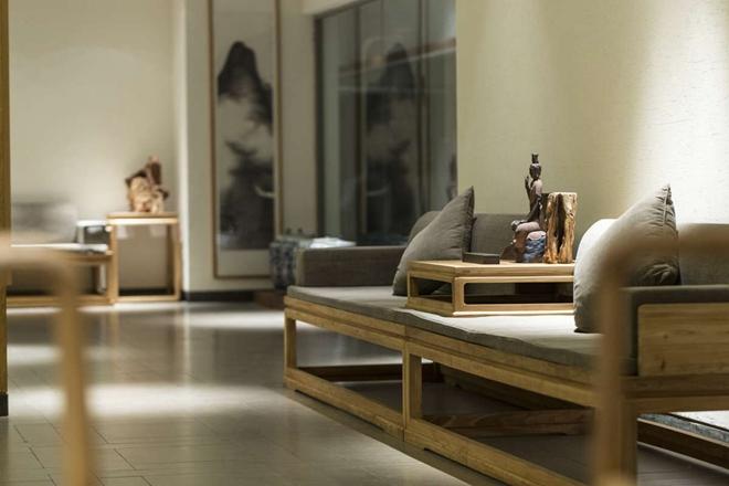 张震斌最新设计作品 禅意的木真香茶室