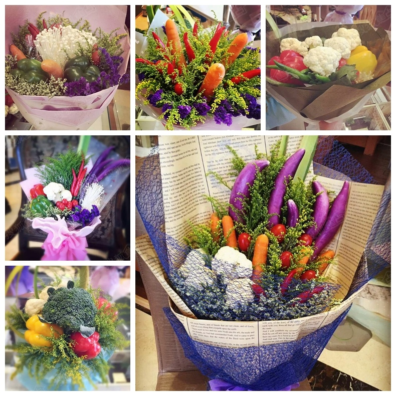 一束美丽的花不仅可以装饰自己五彩的世界,还能给自己带来愉悦的心情。当自己亲手制作一束花是不是意义非凡呢?那么,让你用各种蔬菜,水果去搭配制作一束美丽的花束,对你是不是一个更大的挑战呢?在汇君城售楼处里让你感受蔬菜花束的魅力。  丰富多样的材料 开心的小朋友 展示精美的花束