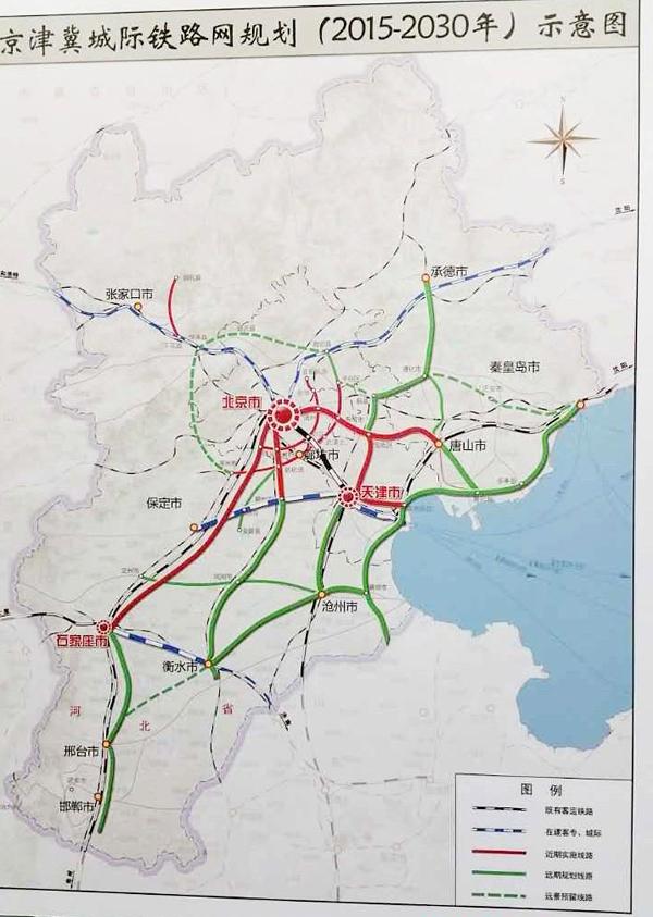 京津冀城际铁路投资有限公司10月14日表示将在未来规划新建城际线23条