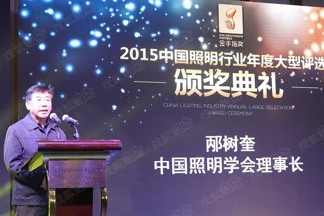 中国照明学会理事长邴树奎首先致辞