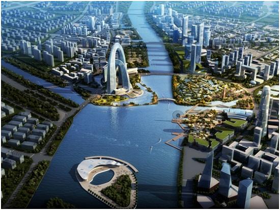 通过产城融合建设综合服务中心,建设宜居宜业的通州,让就业,居住和