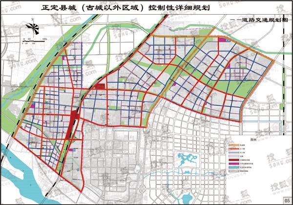 道路交通规划图-官方公示正定县总体规划 将建36.7万人口新城镇