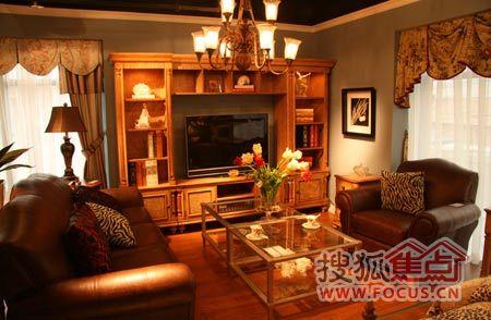选材使用非洲胡桃木,家具线条简约