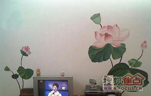 不做呆傻电视墙 款纯手绘超级唯美背景墙(图)