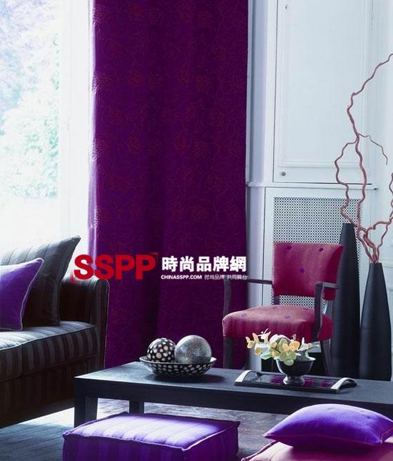 法国紫色调家纺布艺 装点华丽高雅家居