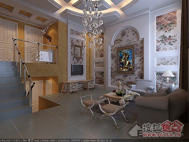 简约欧式风格客厅
