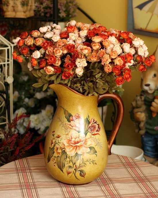 陶瓷花瓶彩铅手绘图片