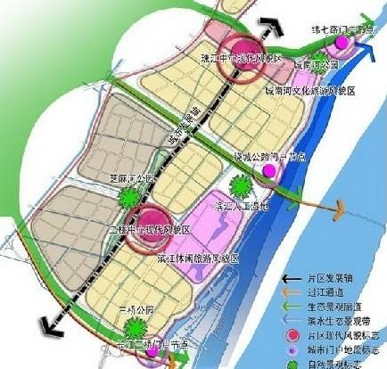浦口新城规划昨日公布 2地铁贯通媲美河西CBD