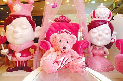可爱粉色饰品打造粉嫩公主屋