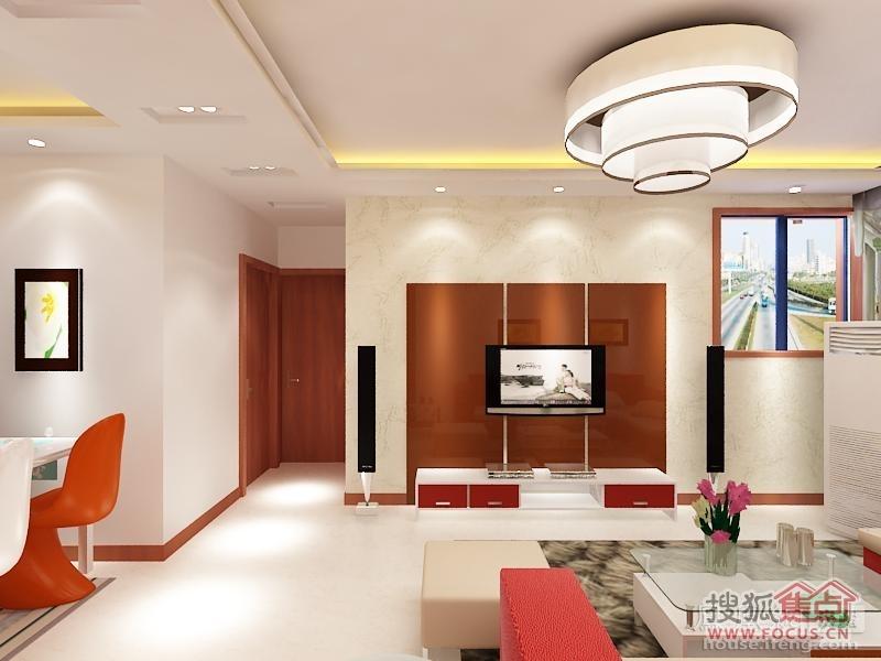 简约客厅吊顶装修效果图欣赏 三居室 130平米 普通住宅装高清图片