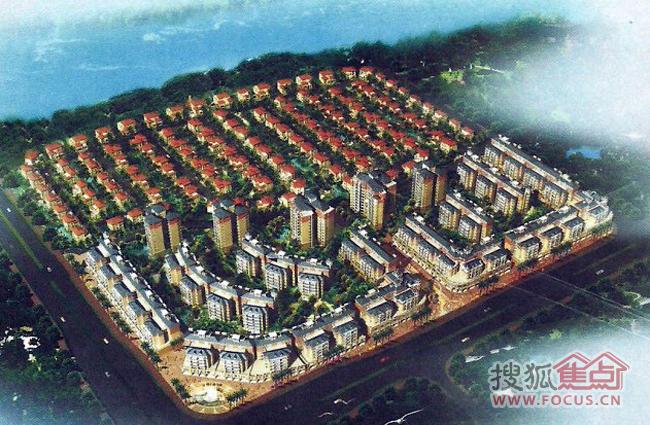 中式府邸平面手绘