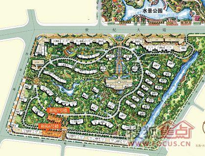 公园水景设计平面手绘