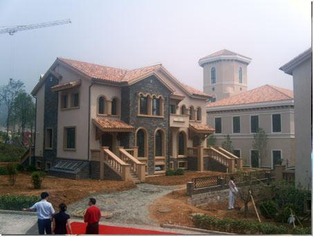 圣世宫别墅施工现场