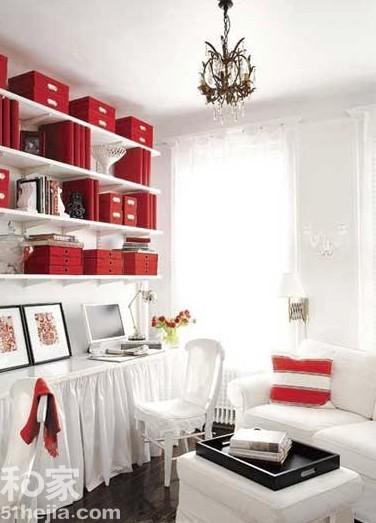 书房和客厅在一起 巧妙结合惹人喜爱