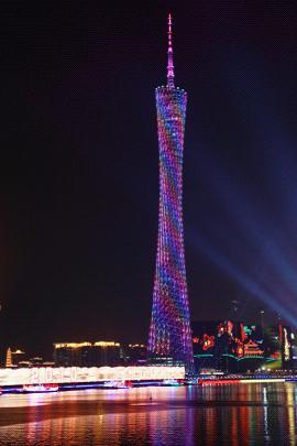 广东戈顿照明有限公司设计的广州塔,黄引达设计的小雁塔历史文化公园