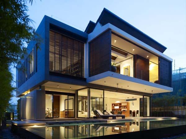 新加坡独栋海滨住宅 美丽田园诗