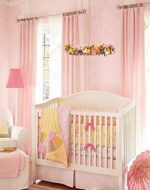 现代简约风格 甜美的蝴蝶田园婴儿床品搭配