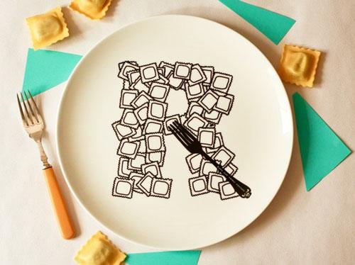 不在 盘子里的26个字母花样