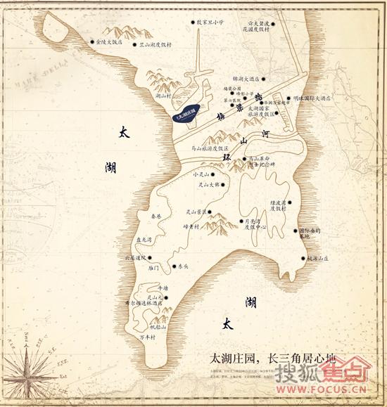 太湖庄园地图导视图片