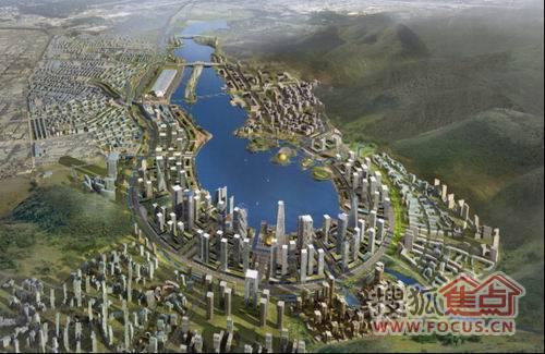 梅溪湖国际新城规划图 高清图片