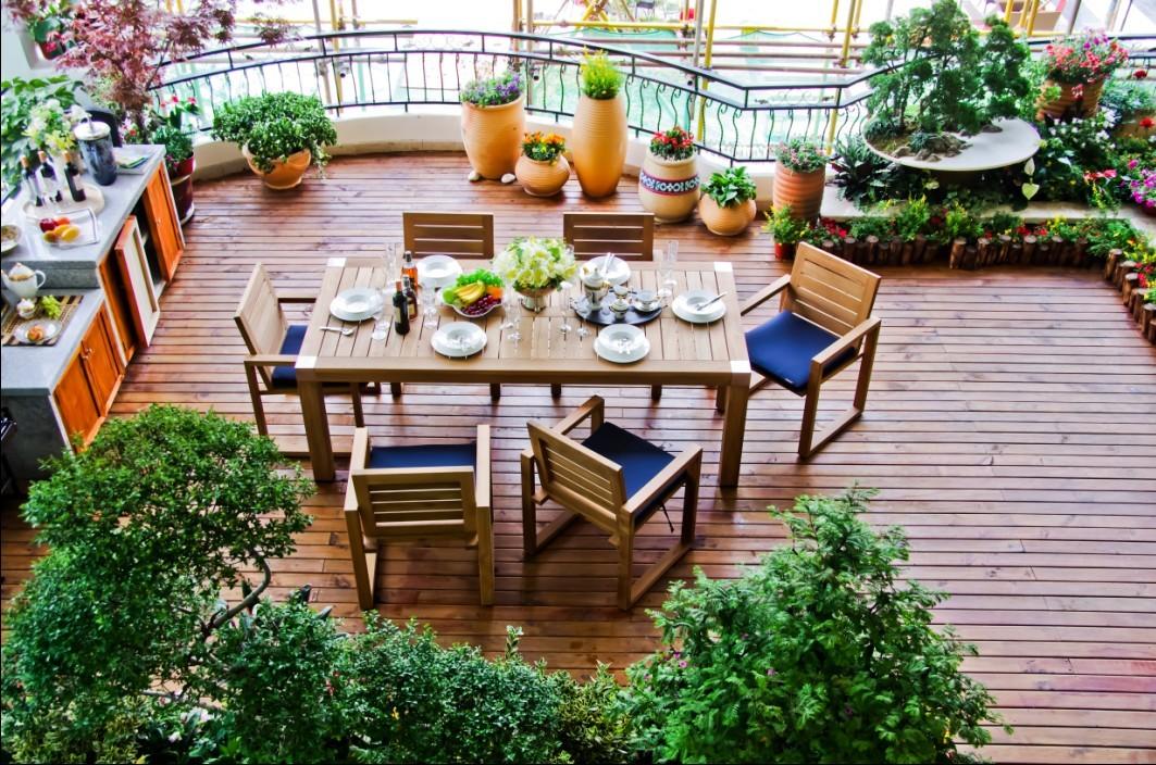 碧桂园·凤凰城月518㎡空中花园别墅庭院实景图片