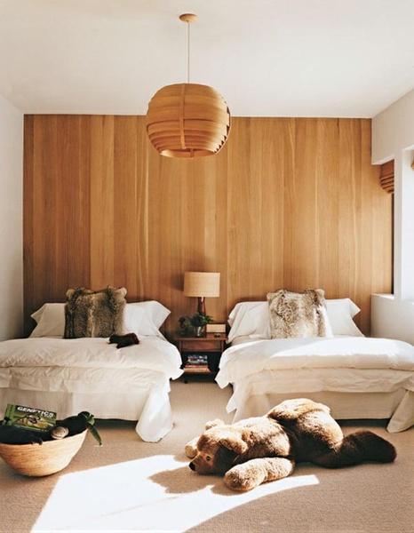 仿若置身大自然:木材墙壁的室内设计