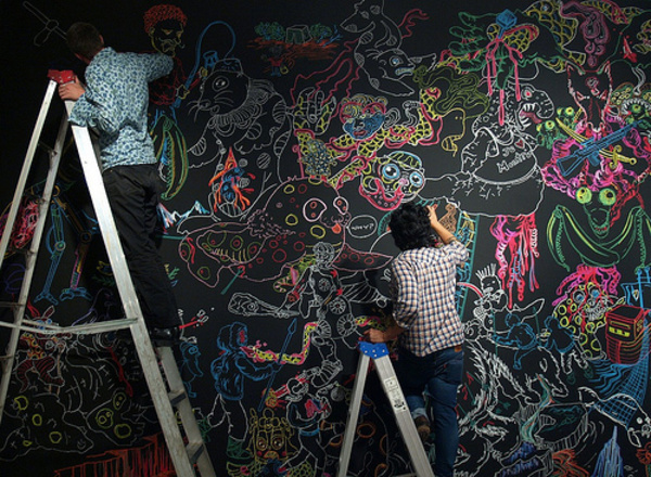 用黑板墙装饰家居的45个创意 明星爱的家居范儿