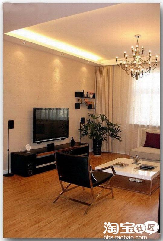 119平装修三室两厅现代简约风格美家 高清图片